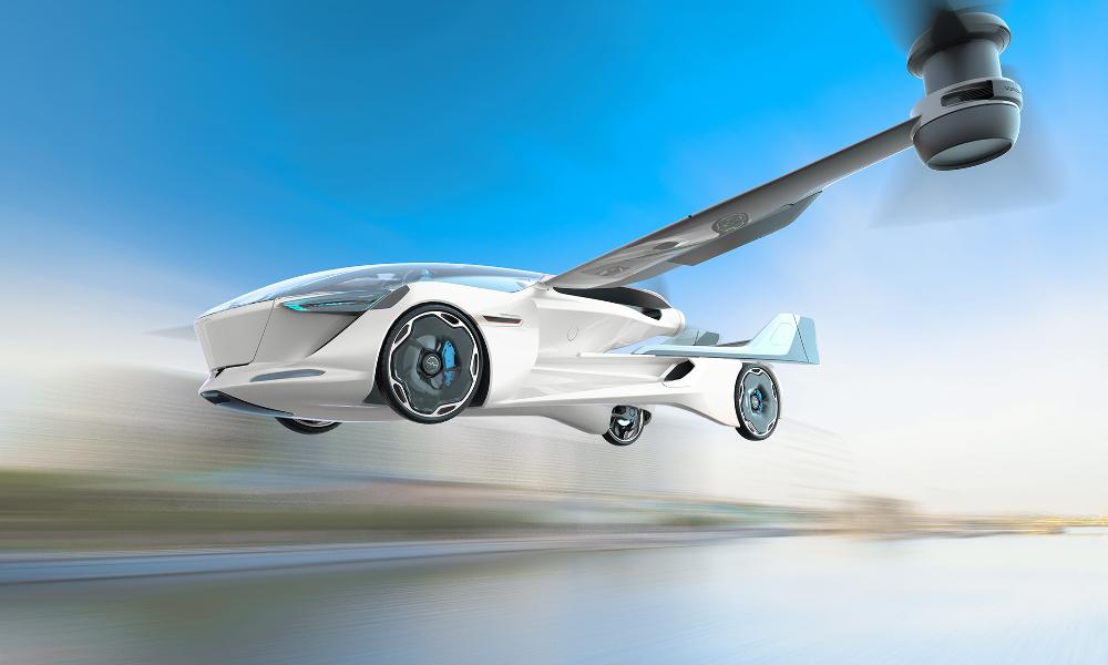 Muni d'ailes rétractables, ce taxi se transforme en avion