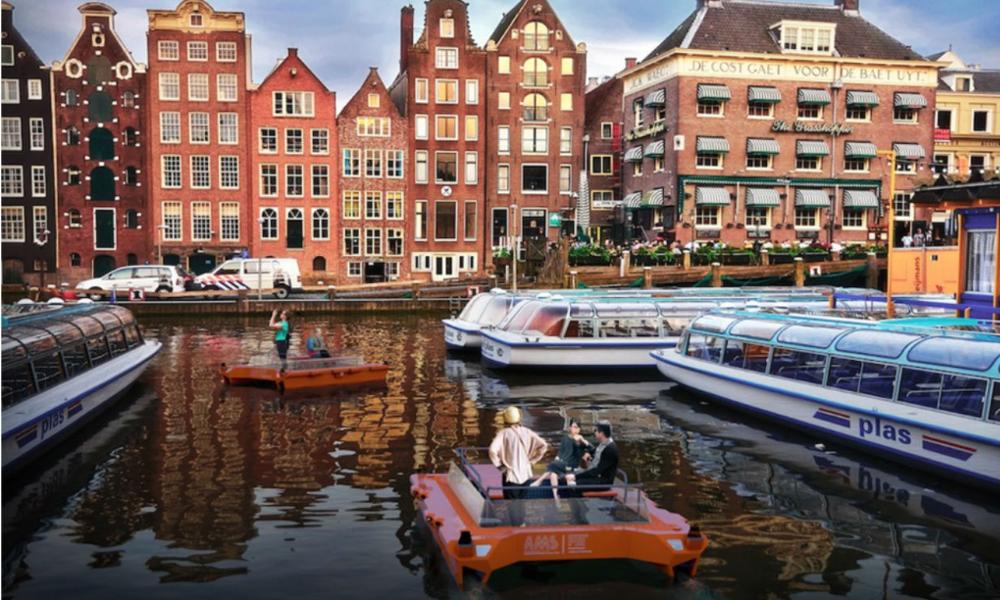 À Amsterdam, on se déplacera bientôt en bateau autonome