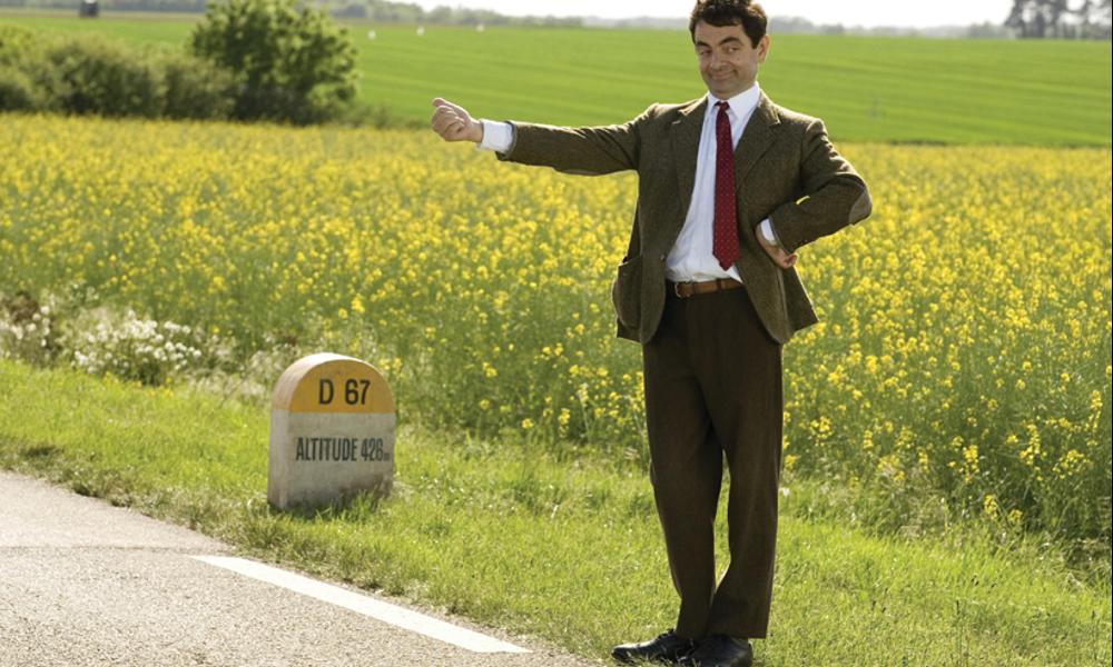 Mr Bean autosstop