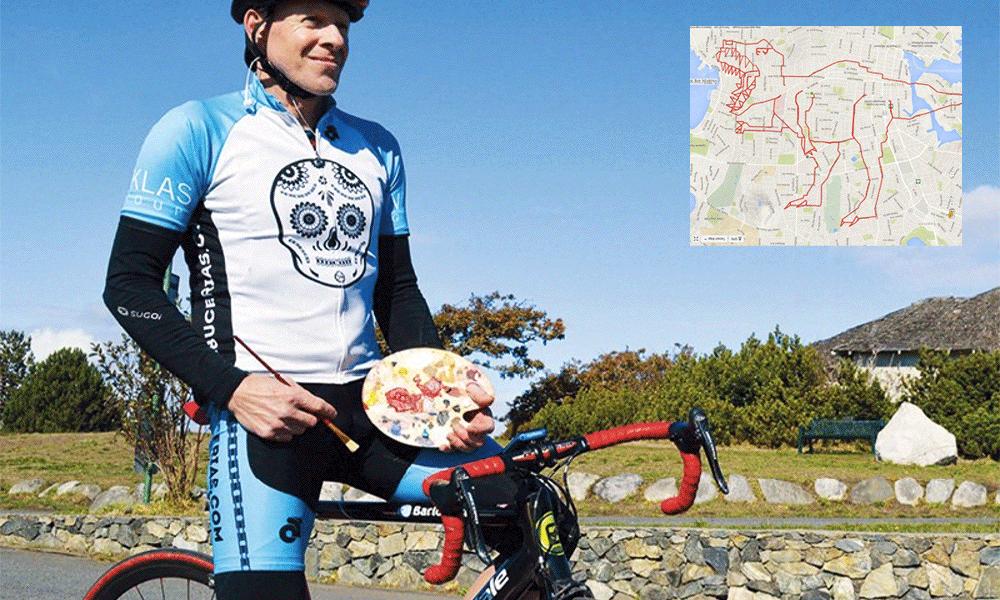 Ce cycliste canadien dessine ses trajets sur Google Maps