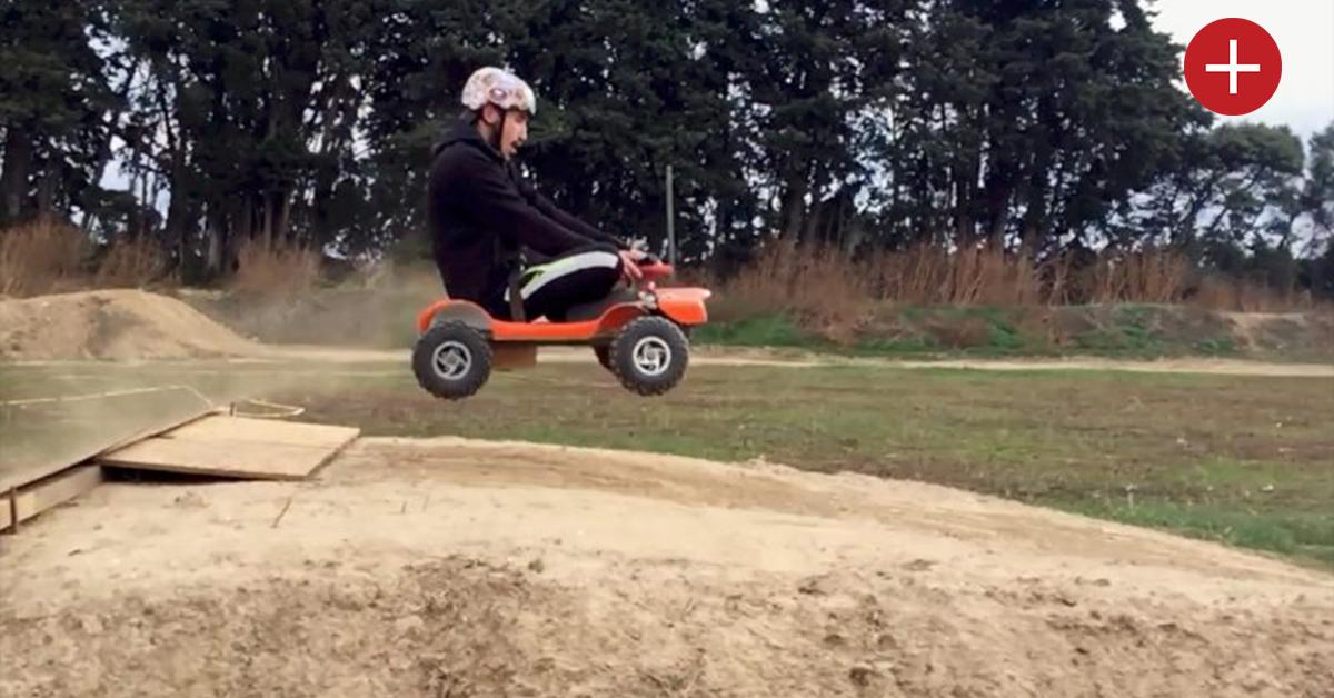 Des Français créent un mini-kart électrique et tout-terrain