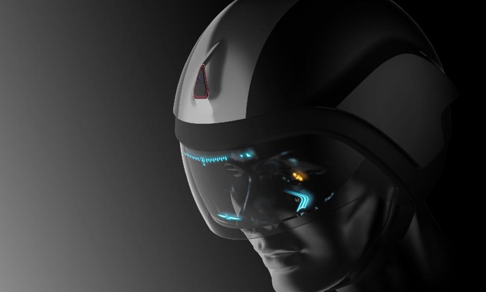 Ce casque de moto permet de voir à 360°