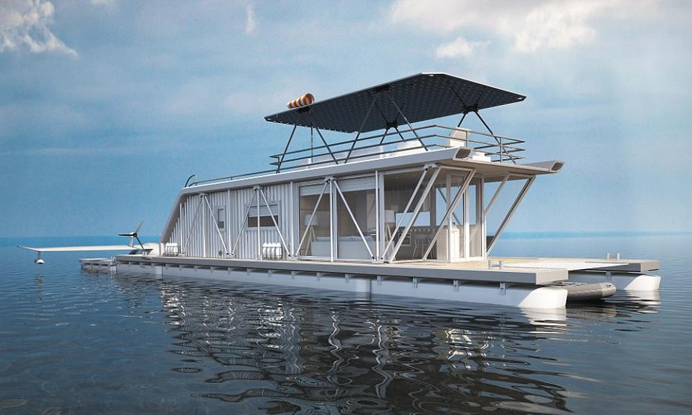 Tout quitter pour vivre sur cette maison-yacht solaire