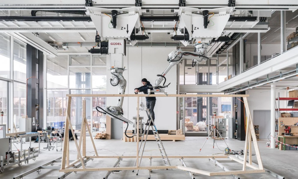 Besoin de personne pour construire sa maison grâce ce robot charpentier