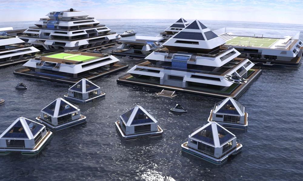 Ces pyramides flottantes seront les villes de demain