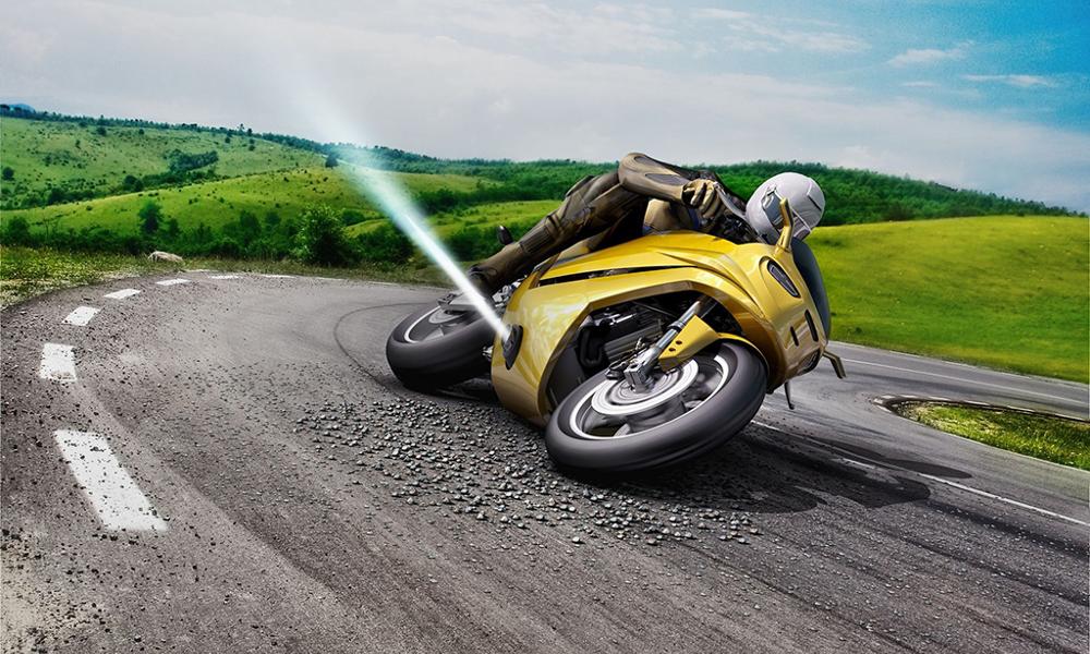 Du travail de pro : Bosch invente la moto qui ne glisse jamais