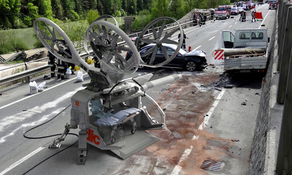 Plus rapide que le SAMU, un drone-ambulance pour sauver des vies