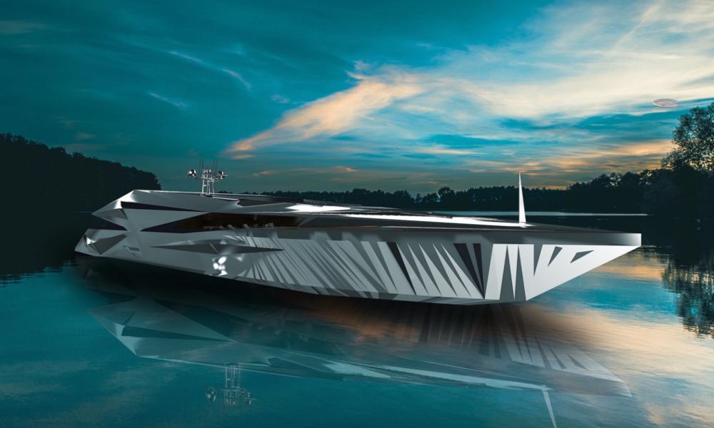 Inspiré par les OVNI, voici le super yacht électrique du futur