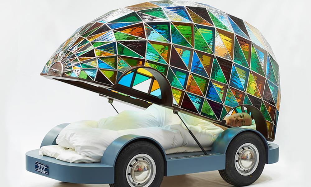 Cette voiture-chambre est entièrement dédiée au sommeil