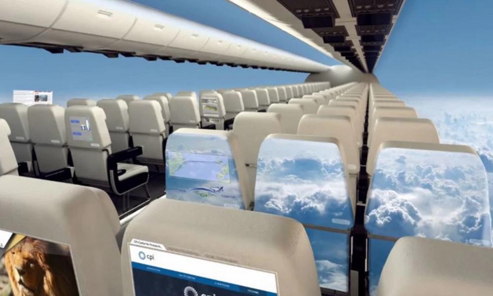 Prêt à voyager dans le premier avion sans hublot ?
