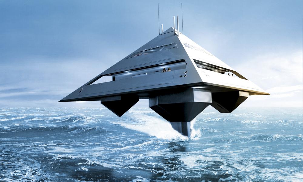 Ce yacht pyramide volant va faire des vagues