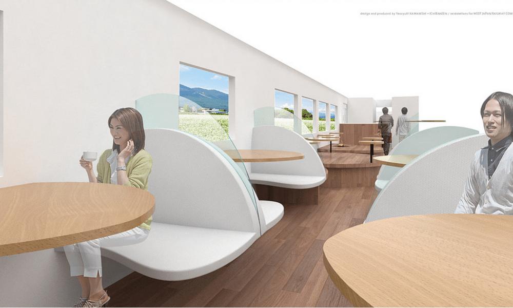 Plus cools que les TGV, ces trains japonais ressemblent à des Starbucks