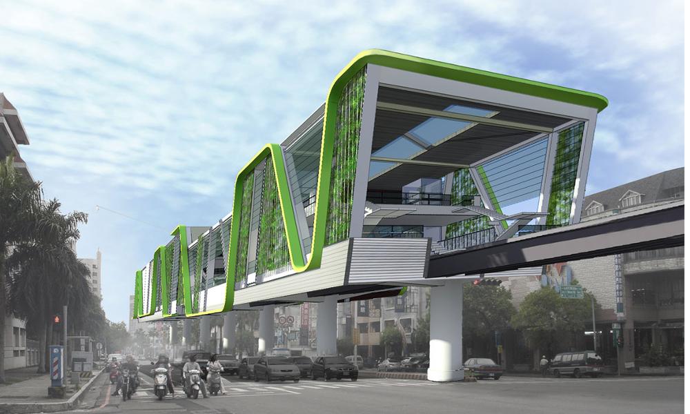 À Taïwan, une voie de métro recyclée en promenade végétalisée