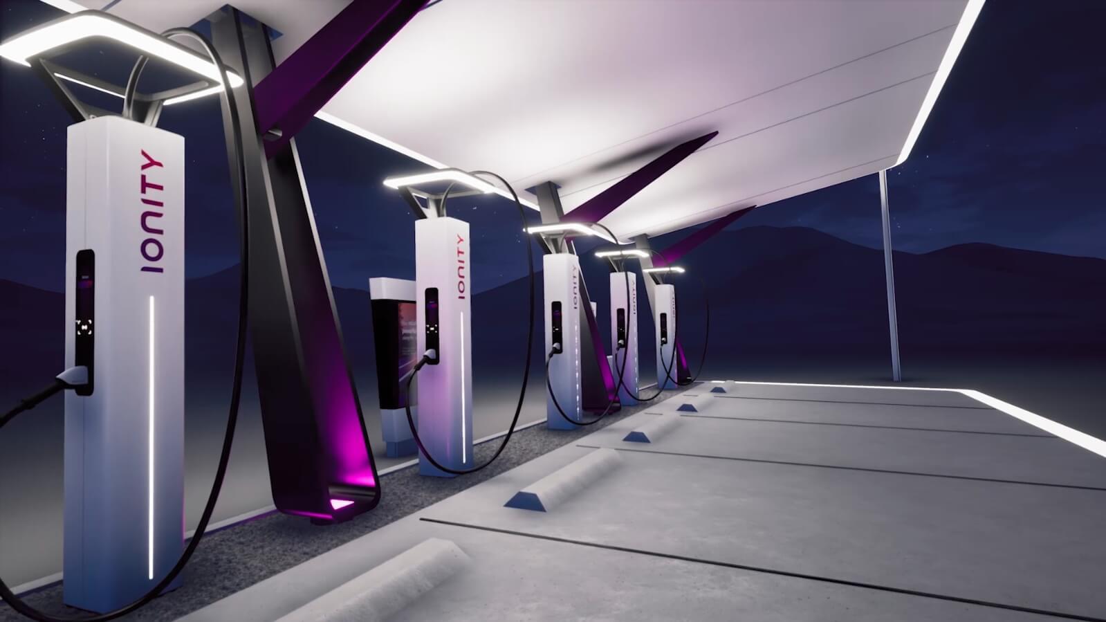 Des stations de recharge gratuites en test sur les autoroutes