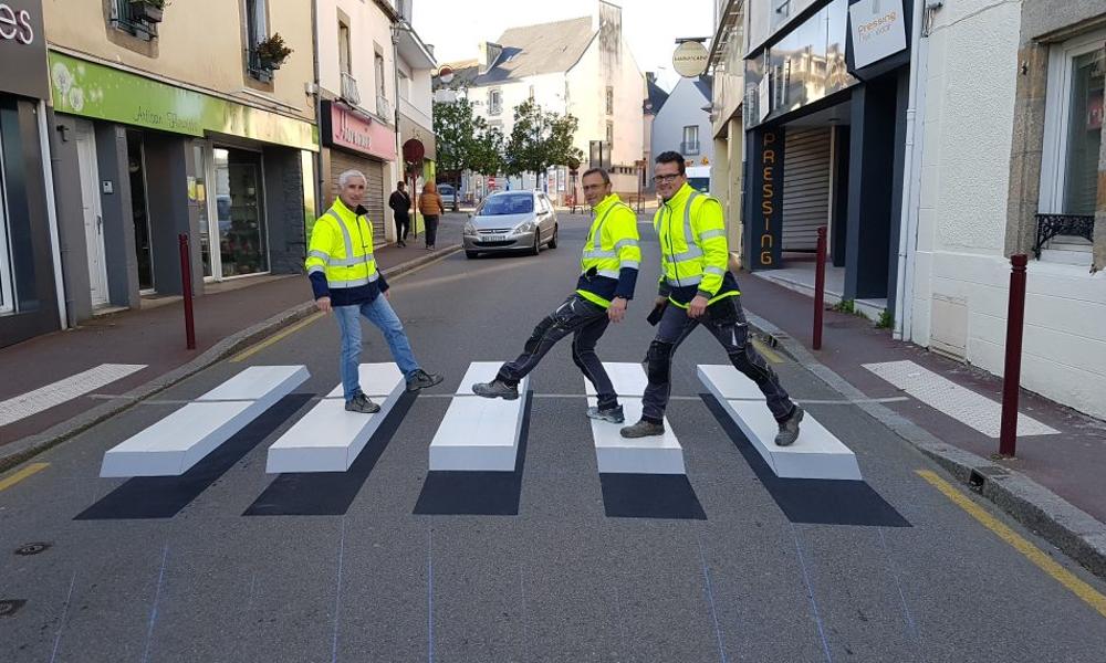 Sécurité routière : Paris teste des passages piétons en 3D