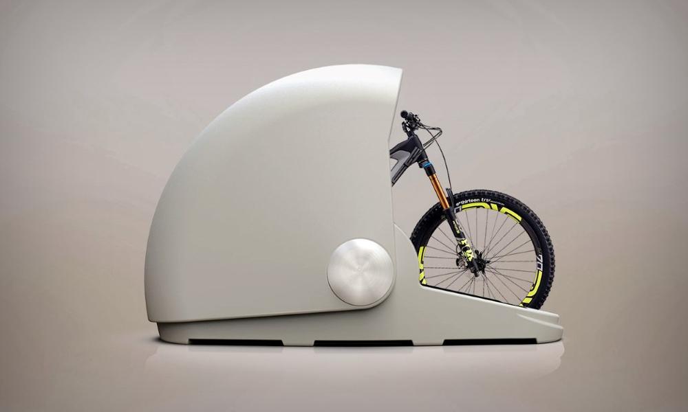 Ce bunker pour vélo ne craint ni la pluie ni les voleurs