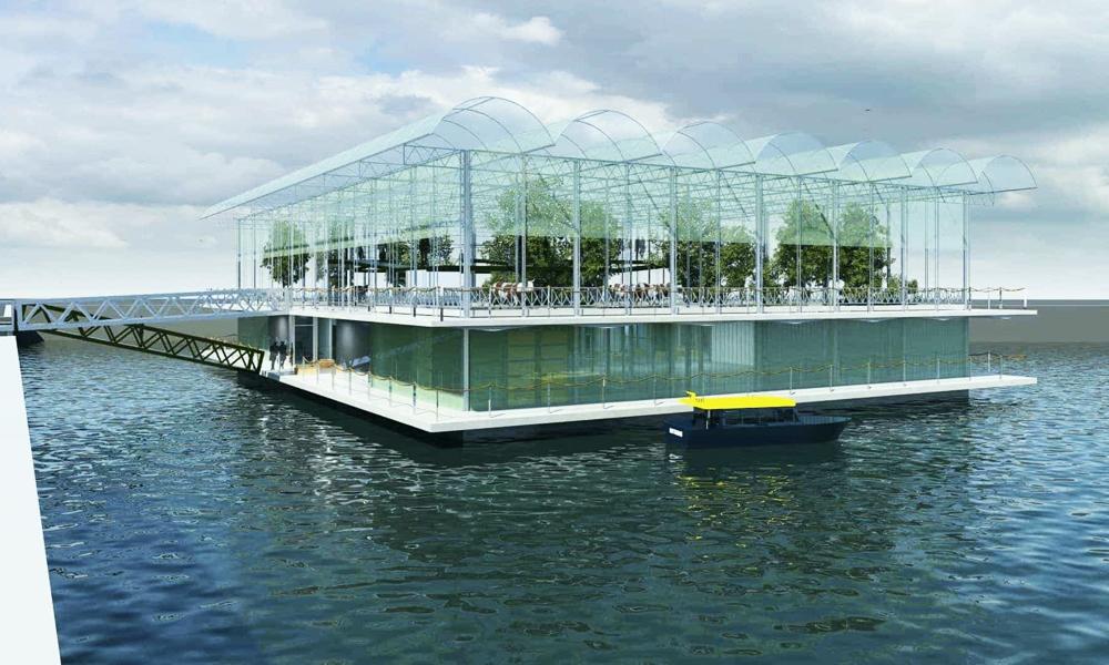 Rotterdam construit la première ferme flottante au monde