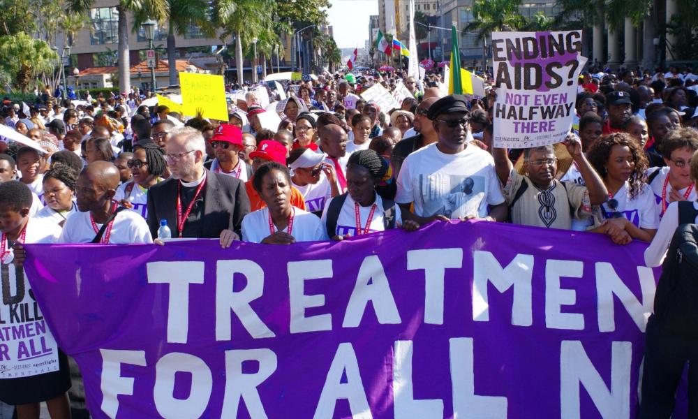 Manif traitement HIV