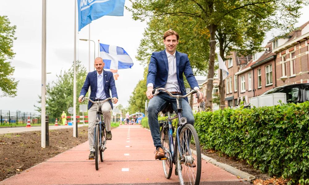Les Pays-Bas testent la voie cyclable en plastique recyclé