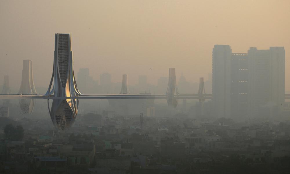 En Inde, des tours gigantesques pour recycler l'air pollué