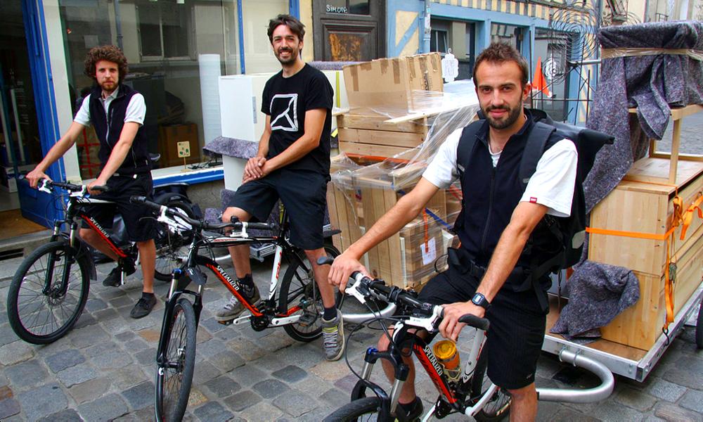 Avec ces Bretons, déménager en vélo c'est possible