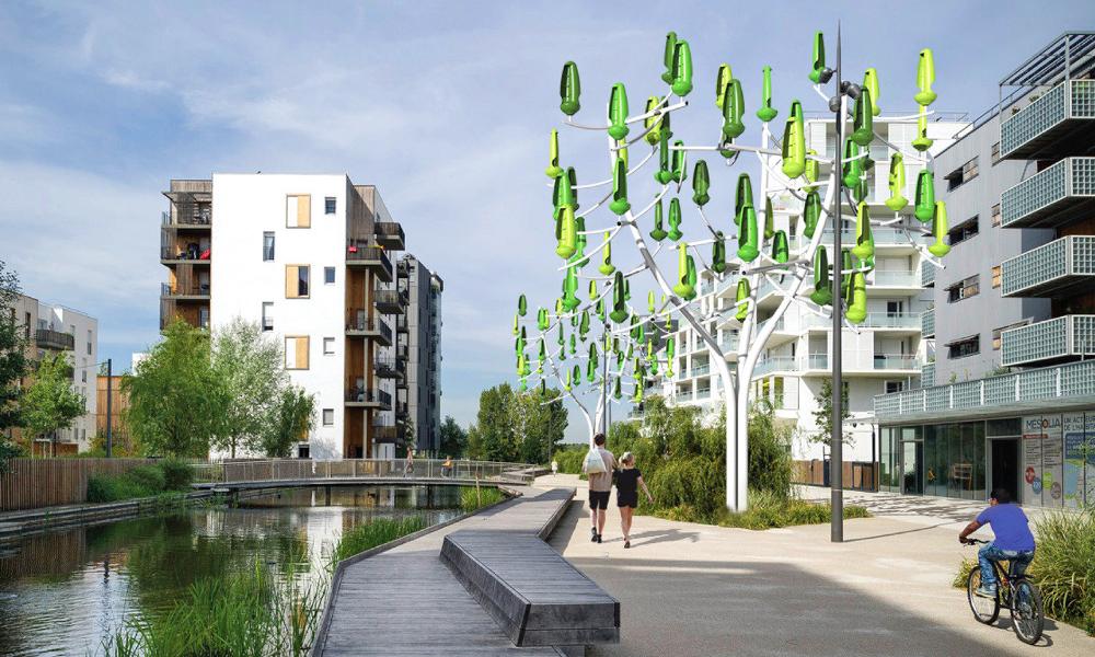 Ces éoliennes en forme d'arbre peuvent recharger les villes gratuitement
