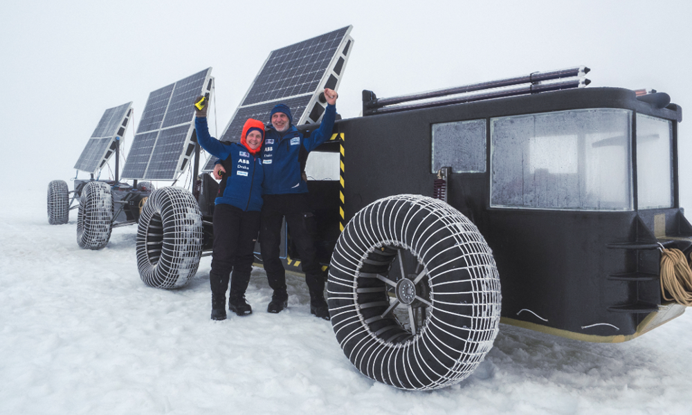 Ils partent à la conquête du pôle Sud en 4×4 solaire