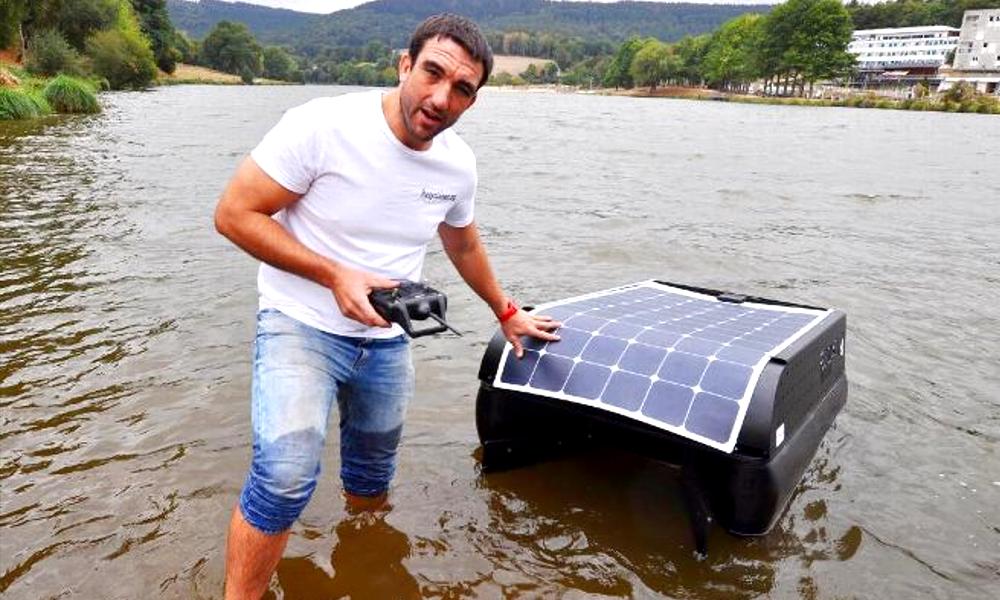 Ce rugbyman a inventé un robot qui nettoie les rivières