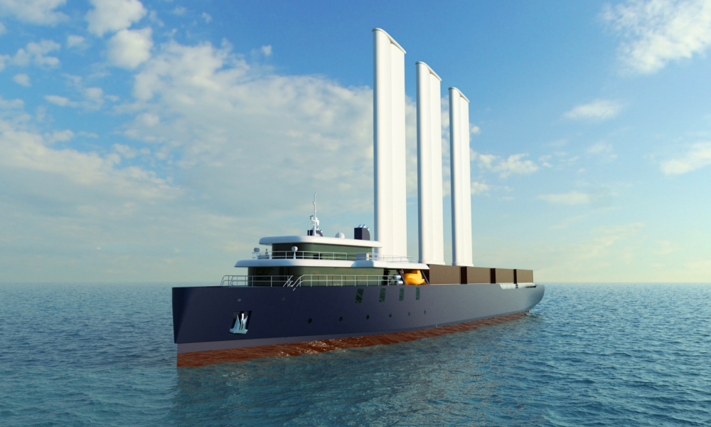 Des Nantais inventent le cargo à voile, 40% moins polluant