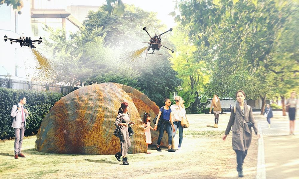 Ces drones cracheurs de terre peuvent construire des maisons n'importe où