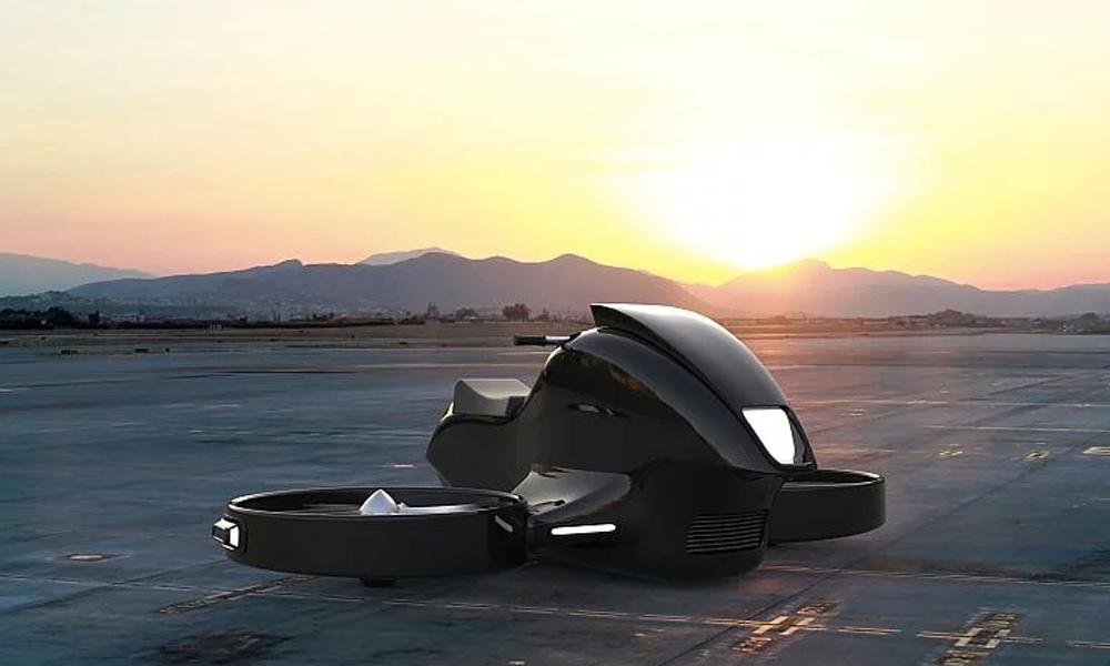 Cette moto-hélicoptère va plaire aux fans de Batman