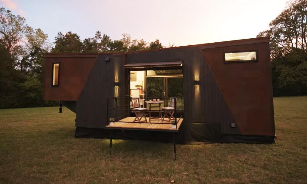 Cette maison mobile est chauffée au café