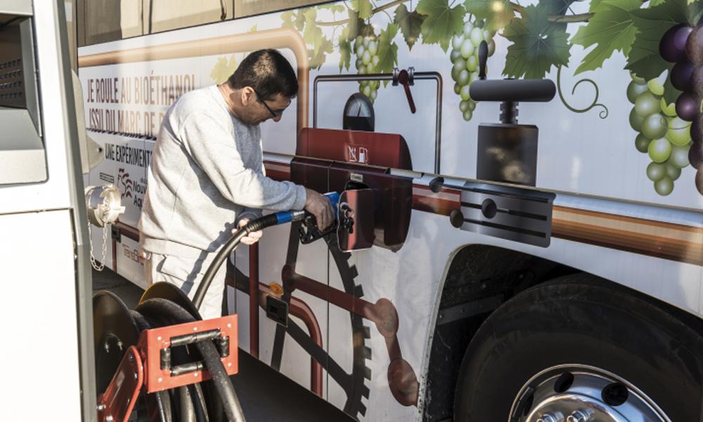 La région des Landes teste un carburant à base de raisin