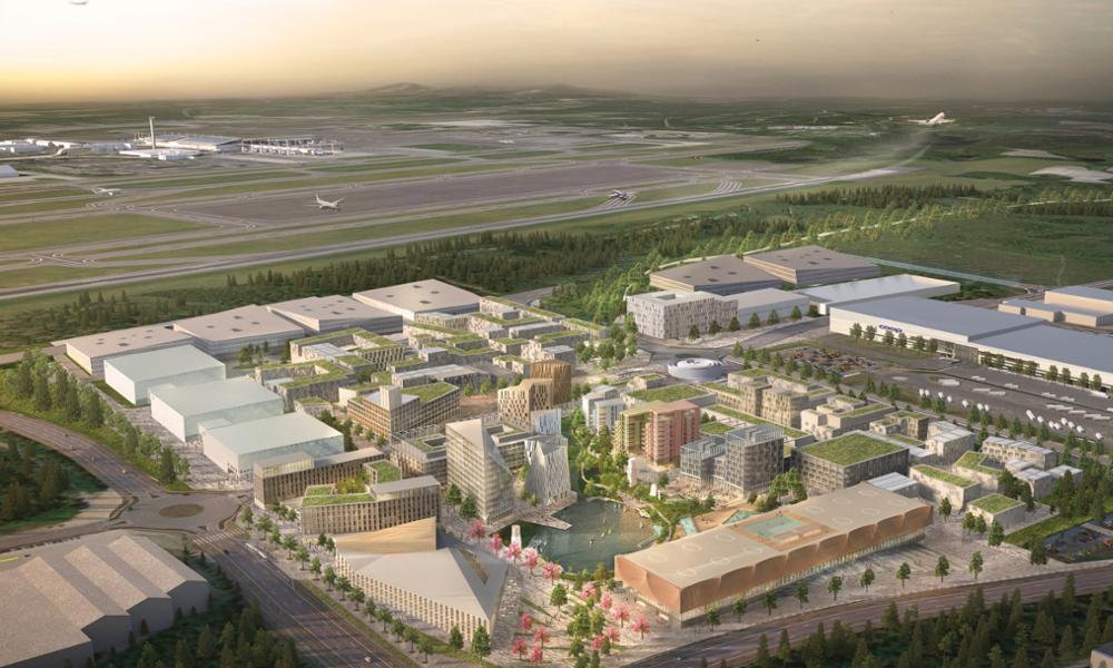 oslo airport city ville durable