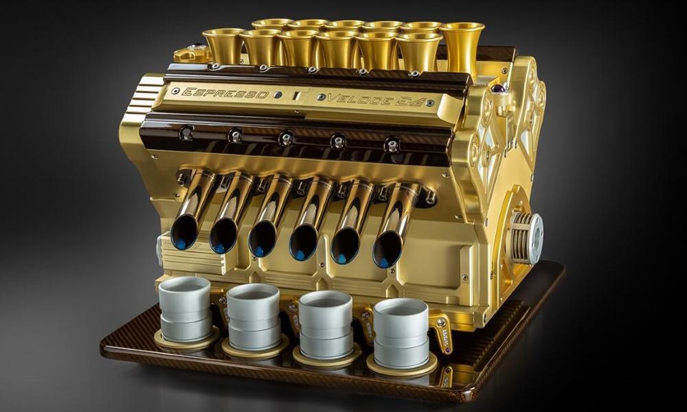 """Le """"must"""" pour carburer, c'est ce moteur V12 transformé en machine à café"""