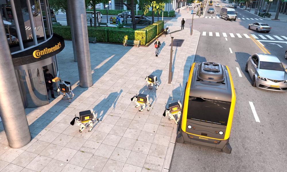 Une marque de pneu veut confier la livraison de vos colis à des robots-chiens