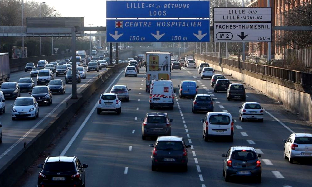 A Lille, la vitesse limitée à 70 km/h sur le périphérique pour lutter contre la pollution