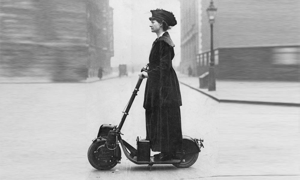 Étonnant : la trottinette électrique a déjà 100 ans