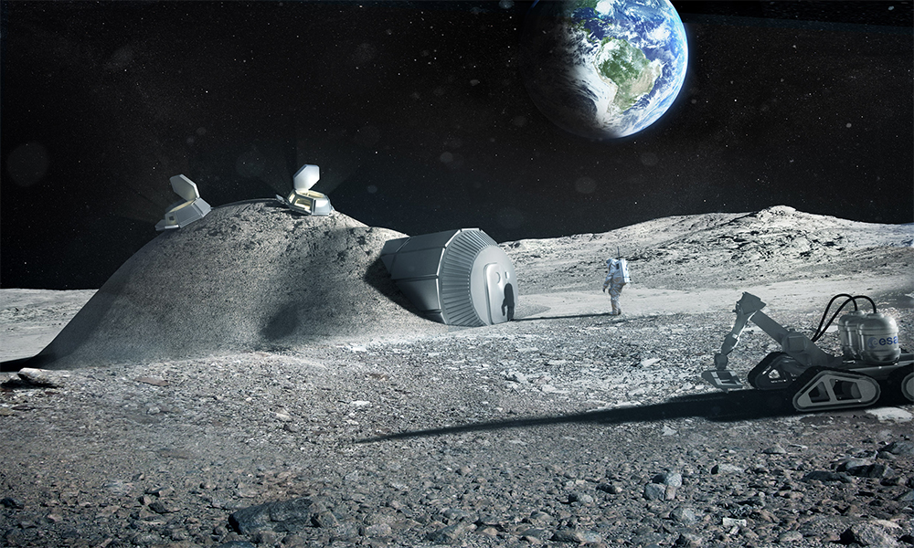 L'Agence spatiale européenne veut installer des bureaux sur la Lune en 2030