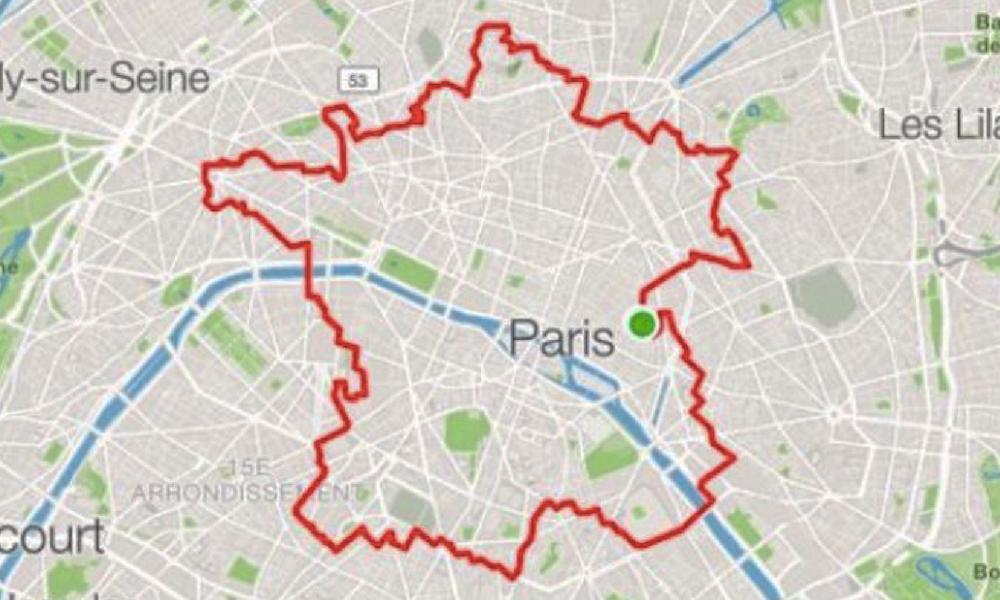 WTF : il fait le tour de Paris à pied pour dessiner la carte de France sur son GPS