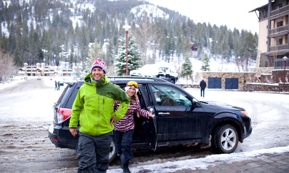 Cet hiver, Uber vous emmène jusqu'aux pistes de ski