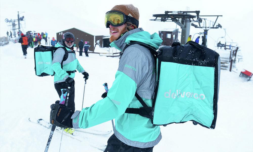 Merci Deliveroo : on pourra bientôt se faire livrer sur les pistes de ski