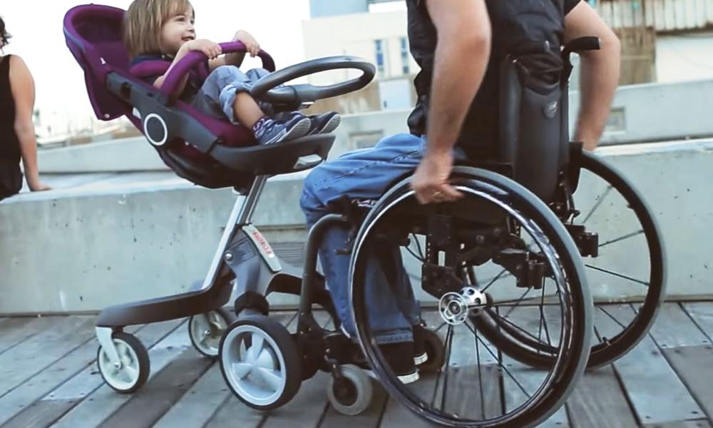 Avec Freewill, fauteuil roulant et poussette ne font plus qu'un