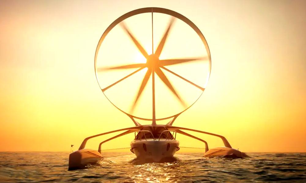 Made in Bretagne : voici le premier bateau à éolienne