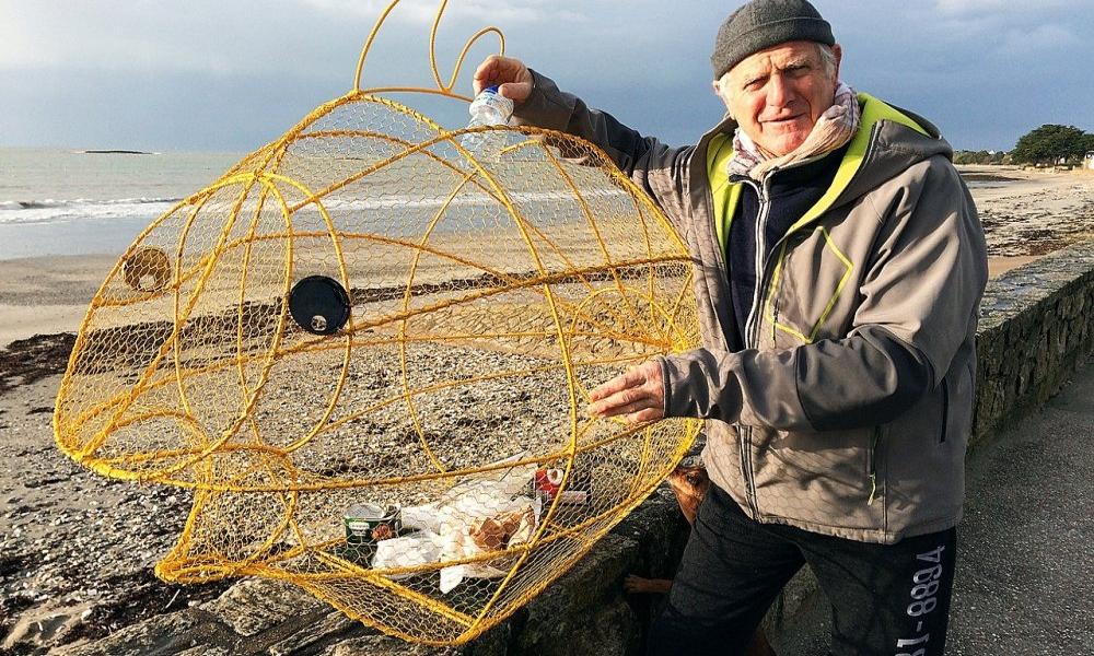 Le poisson-poubelle de ce Breton sert à nettoyer les plages