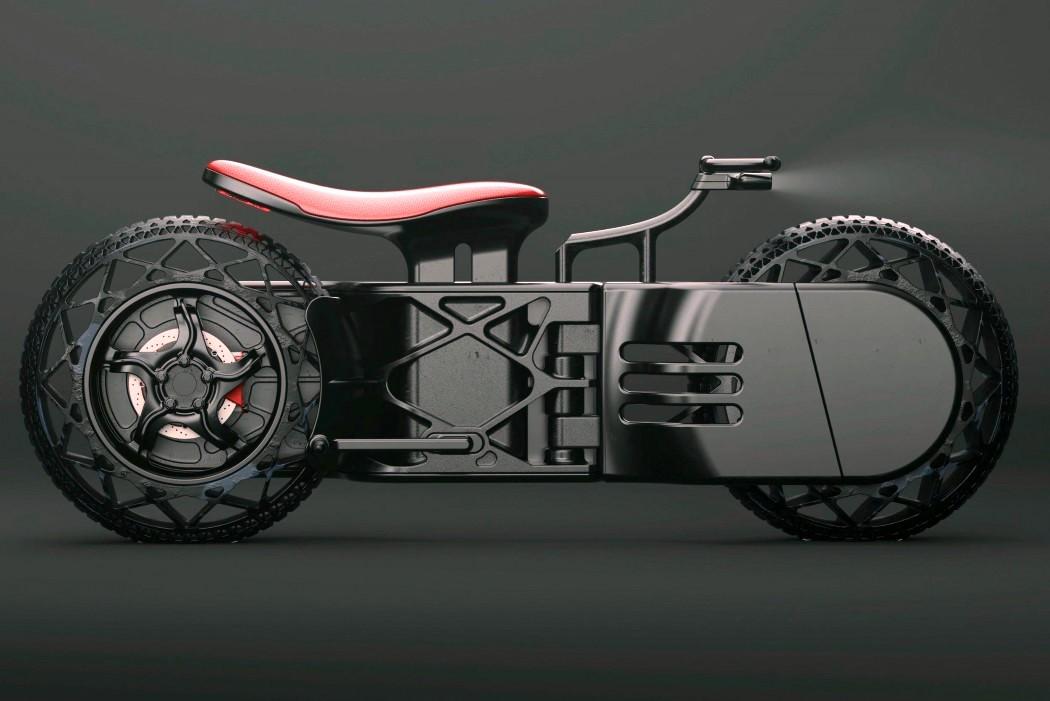 """Inspirée par """"Tron"""" et """"Akira"""", cette moto vient clairement du futur"""
