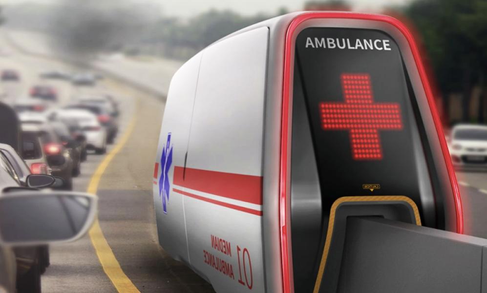 Les ambulances de demain rouleront sur la glissière centrale