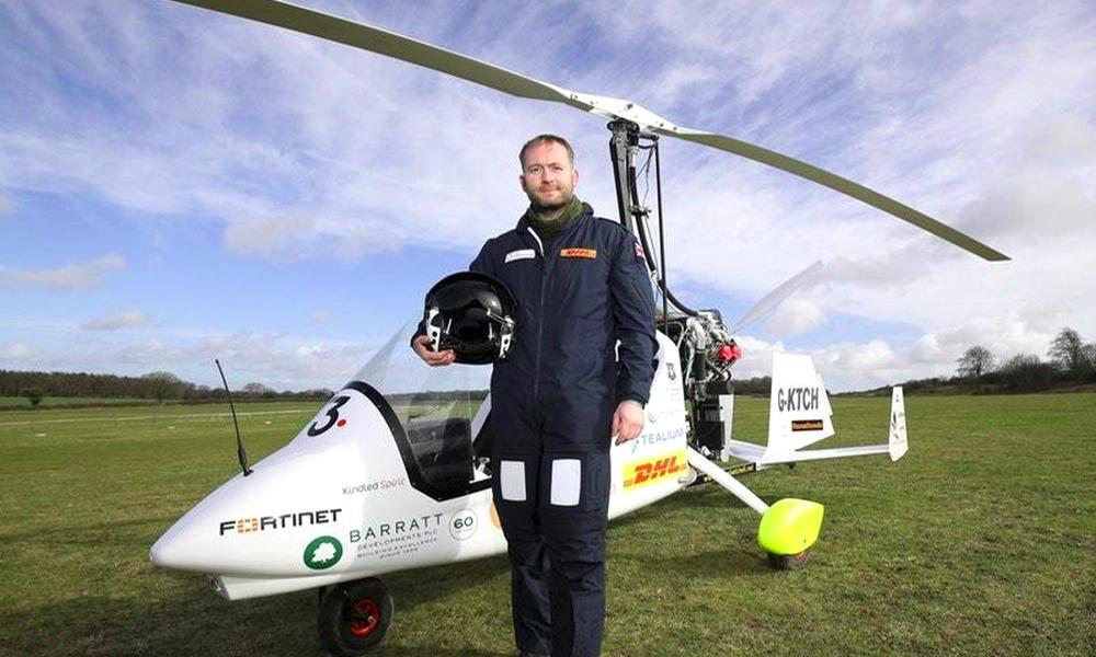 Cet Anglais va boucler le premier tour du monde en gyrocoptère