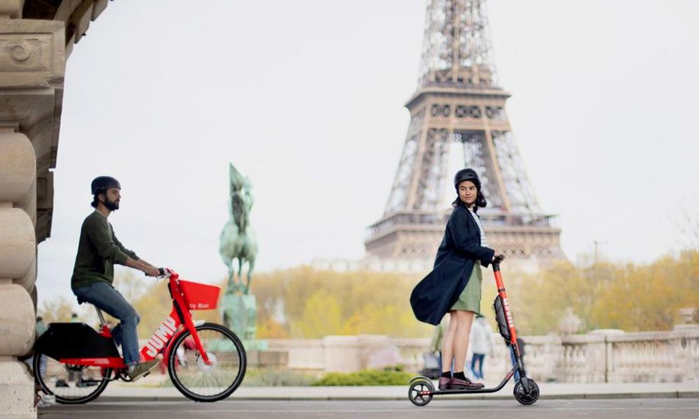 Les trottinettes et vélos électriques Uber débarquent à Paris