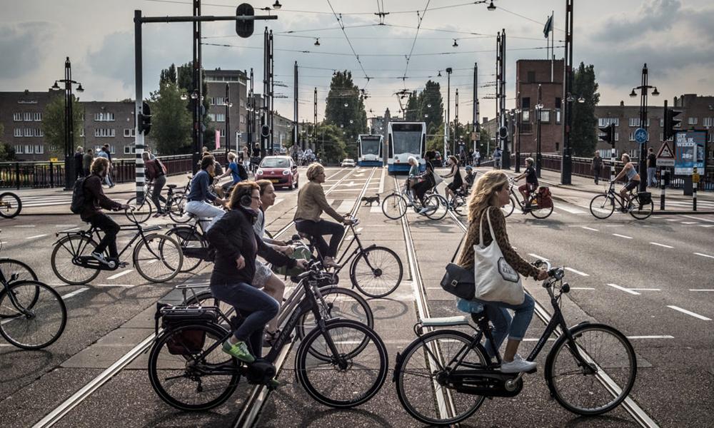 À Amsterdam, les vélos ont déjà remplacé les voitures